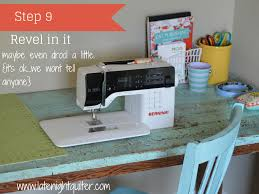 Diy Sewing Desk Diy Drop In Sewing Table Hack The Quilter S Planner