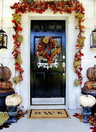 Christmas Decorations For Outside Door by Budget Fall Decorating Ideas For The Front Door Thistlewood Farm