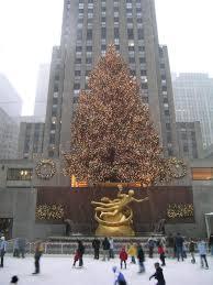 Where Is The Christmas Tree In New York City Rockefeller Center Christmas Tree U0027prometheus U0027 Rockefeller