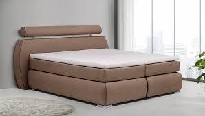 Schlafzimmer Braunes Bett B Famous Boxspringbett Cannes 180 X 200 Cm Strukturstoff