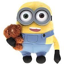 despicable minions 2 14 cm soft toy stuart minions amazon