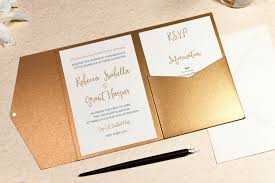 calligraphy for wedding invitations calligraphy wedding invitation in antique gold pocketfold wallet