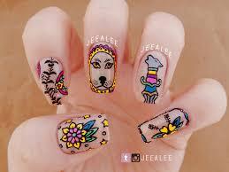 tattoo nails nail art by jeea lee nailpolis museum of nail art