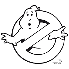 ghostbusters coloring pages disfraz de logo de cazafantasmas