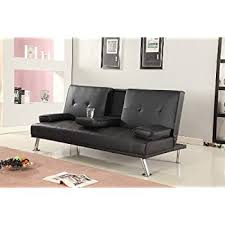 Amazon Sofa Bed Manhattan 3 Seater Sofa Bed With Cup Holders Black By Sleep Design