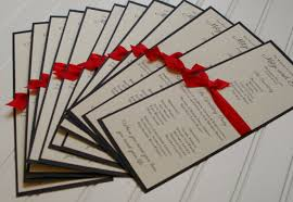 custom wedding programs custom wedding programs ribbon handmade tea length