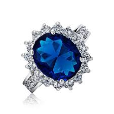 oval sapphire engagement rings bling jewelry royal 5ct oval simulated sapphire