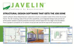 Wood Frame Design Software Free by Trus Joist Javelin Software Weekes Forest Products