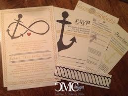 Wedding Invitations Nautical Theme - wedding invitations christi marie creative