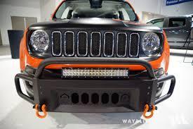 tan jeep renegade 2017 sema motor city jeep renegade