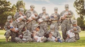 soldiers in camo breastfeed in photo cnn