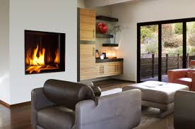 furniture modern gas fireplace with ottoman and sofa ideas in