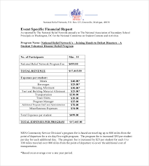 volunteer report template 20 financial report templates free sle exle format
