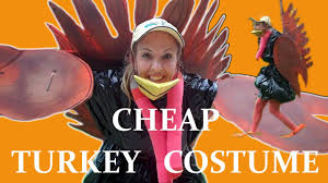 funny thanksgiving costumes cheap homemade turkey costume youtube