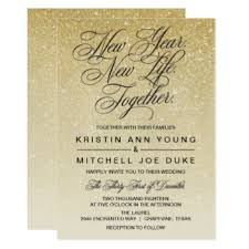 new years wedding invitations new years wedding invitations announcements zazzle