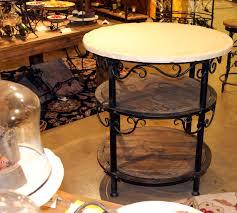round kitchen islands siena round kitchen iron island classic hostess