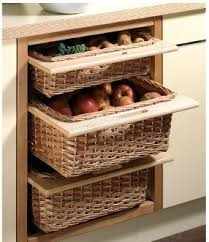 3pl modular kitchens kitchen accesories steel baskets wicker
