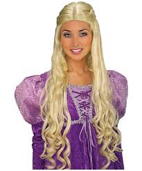 blonde wig halloween costume guinevere wig blonde accessory halloween wig at wonder