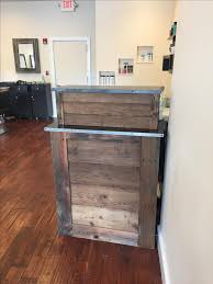 Salon Front Desk Furniture Handmade Small Barn Wood Salon Reception Desk By M Karl Llc