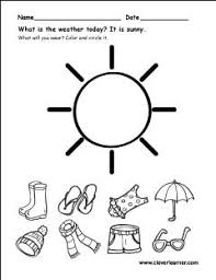 the weather worksheets for preschools