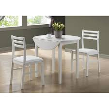 amazon com monarch specialties 3 piece dining set with a 36 inch