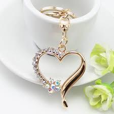 key rings designs images New design rhinestone heart keychains fashion crystal trinket gift jpg