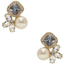 cluster stud earrings pearl cluster stud earrings kate spade polyvore