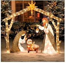 how to make staggering christmas decorations nativity scene yard