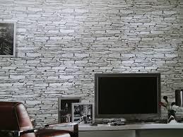 Graue Wand Und Stein Attraktive Wandgestaltung Im Wohnzimmer Wand In Steinoptik