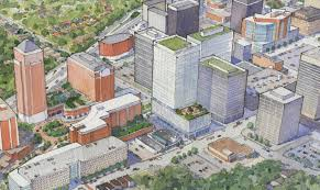 centene unveils vision for clayton corporate campus project nextstl abbett suggested if the project were built as presented that driving in clayton would be akin to leaving a downtown st louis parking garage