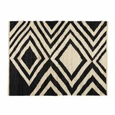 tappeto etnico tappeto etnico in iuta nero ed 礬cru 140x200 cm blosia tappeti