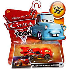 disney cars main series dragon lightning mcqueen diecast car