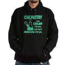 chemistry hoodie dark cafepress com