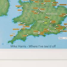 Scratch Off World Map Scratch Off Uk Golf Courses Print