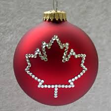 canadian maple leaf ornament tree ornaments with