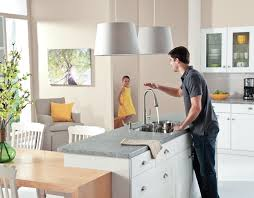 touch free kitchen faucet no touch kitchen sensor faucet