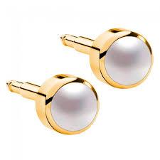 ear piercing studs pearls gold plated ear piercing studs