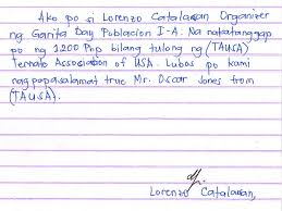 thank you letters from ternate ternate association of usa