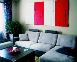Teal And Red Living Room by Red Sofa Modern Custom Home Design