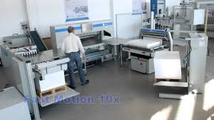 paper cutting system with pile hoist jogger 132 guillotine