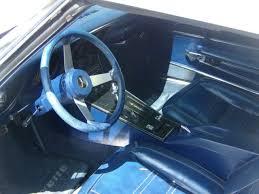 white corvette interior 1977 corvette white w blue leather interior l 48 for sale photos