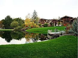 frank lloyd wright inspired home with lush landscaping colleen this is near cathy s house located on 25 acres surrounded