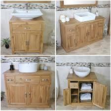 Bathroom Sink Vanity Units Uk - bathroom vanity unit oak sink cabinet wash basin tap option