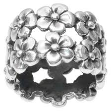 flower band women s journee collection flower band in sterling silver silver