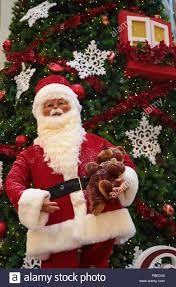 santa claus and decorations at pavillion shopping complex