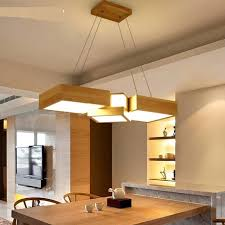 Japanese Ceiling Light Aliexpress Com Buy Solid Wood Square Combination Pendant Lights