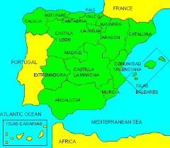 map of spain spain map of spain