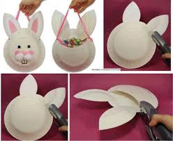 easter bunny baskets wonderful diy easter paper plate bunny basket