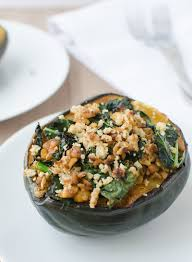 kale and tempeh stuffed acorn squash delish knowledge