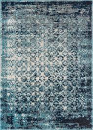 Area Rug Modern Bungalow Allentow Modern Distressed Royal Blue Area Rug